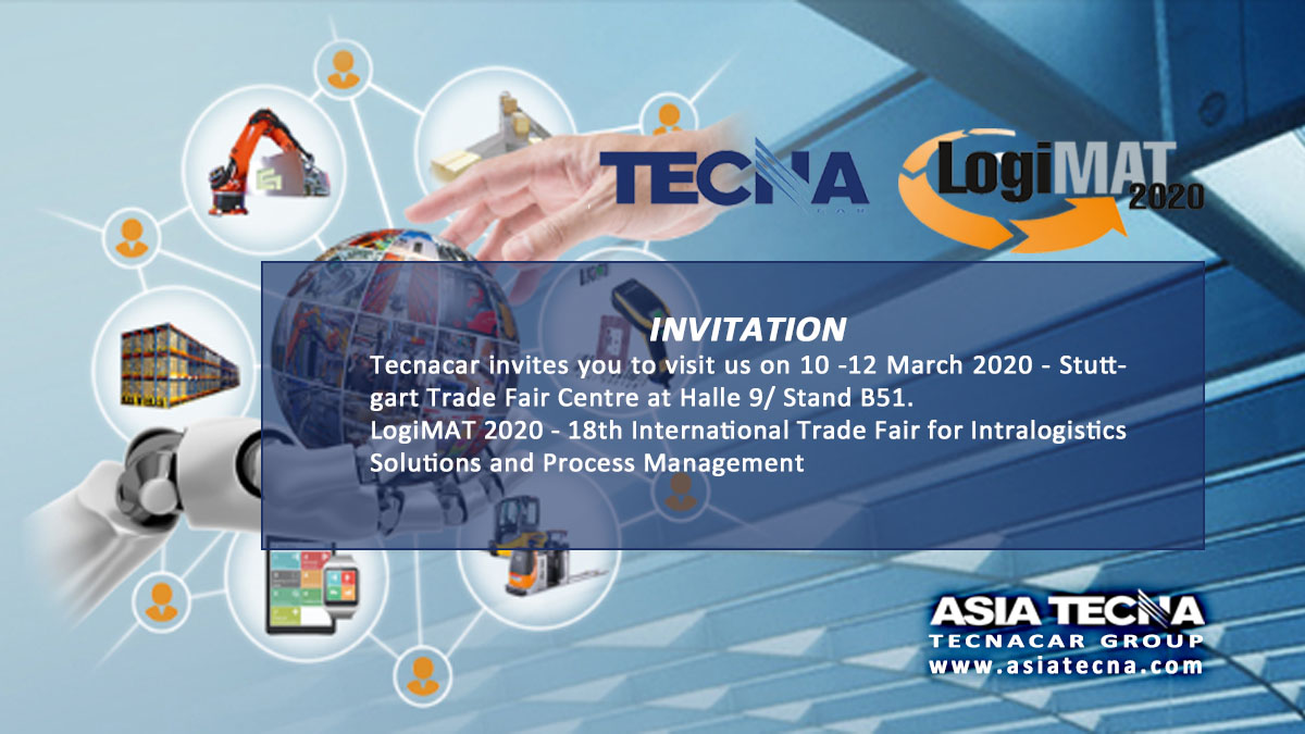 Tecnacar invites you to visit us at LogiMat 2020, Halle 9/ Stand B51.